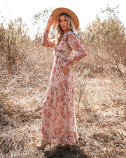 Songbird Floral Ruffle Maxi Dress