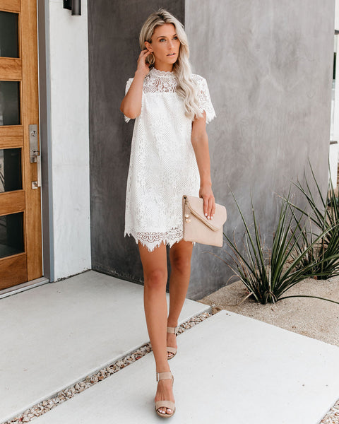 Soon To Be Lace Dress - Off White