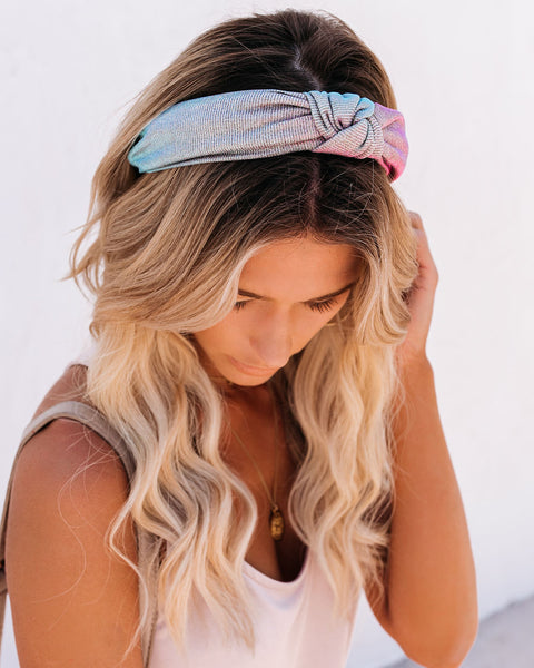 Sparks Will Fly Metallic Knot Headband