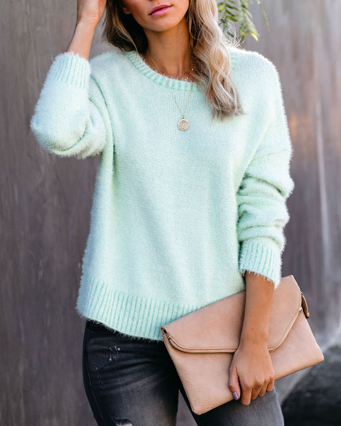Spearmint Knit Sweater