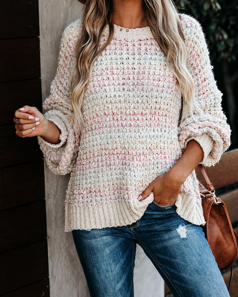 Spectacular Rainbow Knit Chenille Sweater  - FINAL SALE