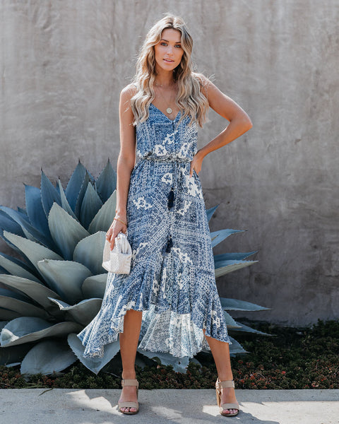 Spin Me Around Printed High Low Maxi Dress