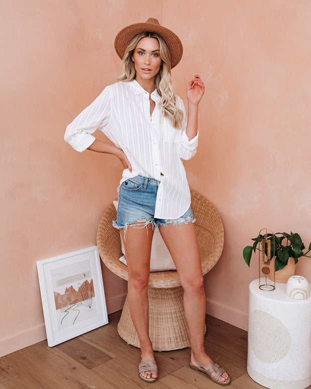Spoonful Of Sugar Cotton Button Down Top