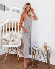 Spring Ahead, Fall Back Pocketed Thermal Jumpsuit - Portabella view 8