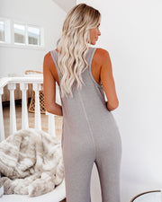 Spring Ahead, Fall Back Pocketed Thermal Jumpsuit - Portabella view 2