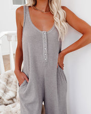 Spring Ahead, Fall Back Pocketed Thermal Jumpsuit - Portabella view 7