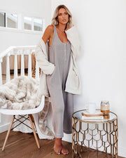 Spring Ahead, Fall Back Pocketed Thermal Jumpsuit - Portabella view 9
