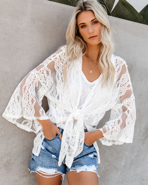 Stairway To Heaven Lace Tie Top