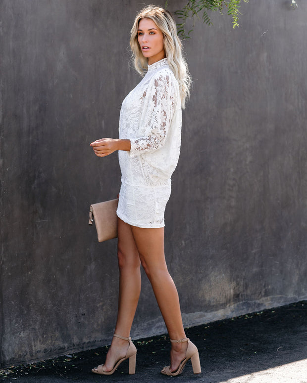 Standout Style Lace Mini Dress