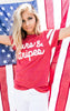 Stars and Stripes Boyfriend Tee - ILY COUTURE