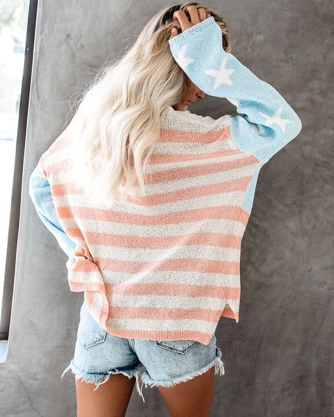Stars + Stripes Relaxed Knit Pullover