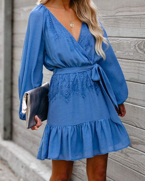 Start Anew Balloon Sleeve Lace Dress - FINAL SALE