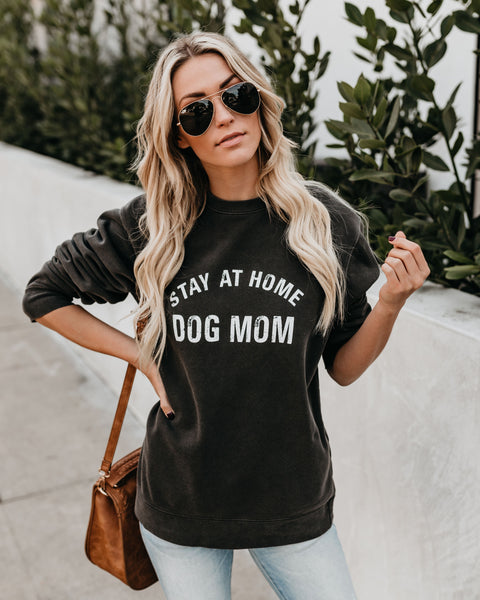 Stay At Home Dog Mom Cotton Sweatshirt