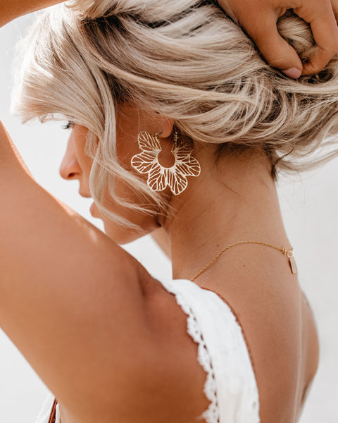 PREORDER - Stencil Floral Earrings