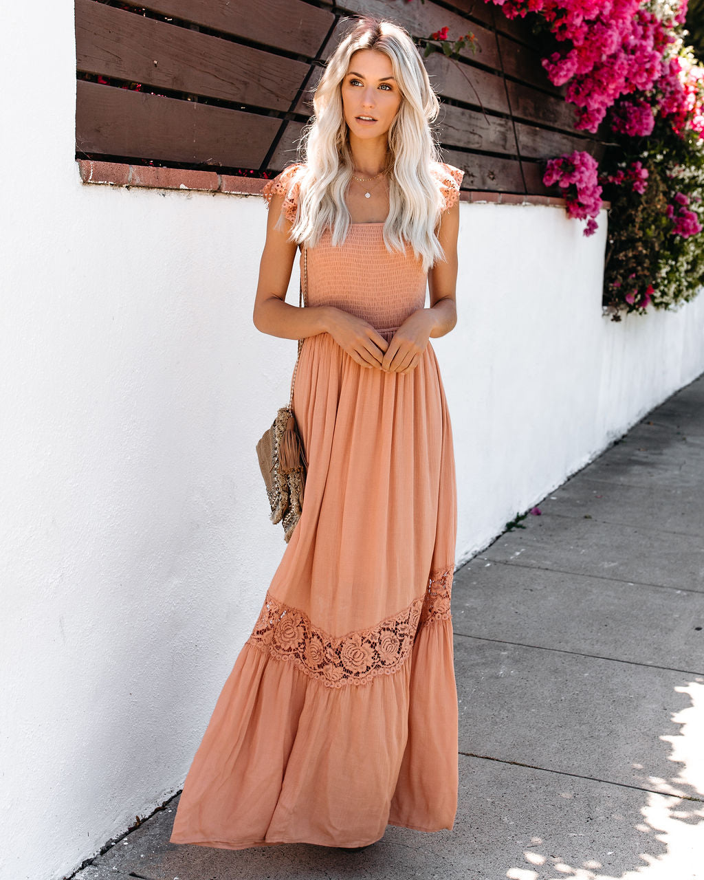 604e455cec814 Stories From Summer Smocked Lace Maxi Dress - Ginger – VICI