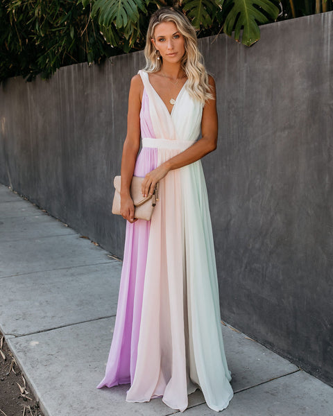 Storybook Colorblock Maxi Dress