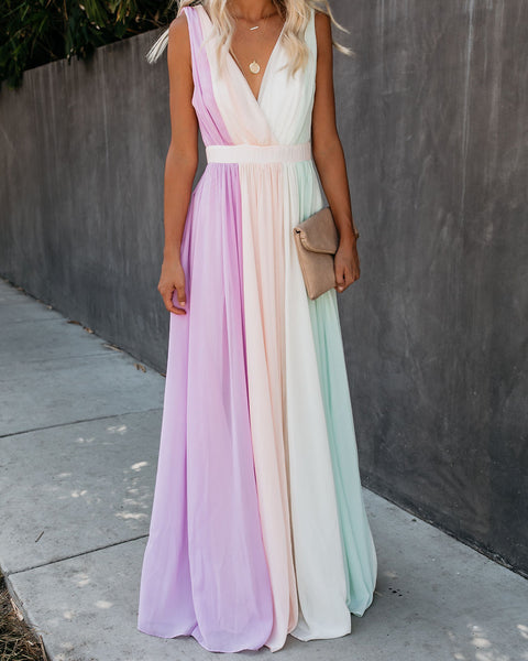 Storybook Colorblock Maxi Dress - FINAL SALE