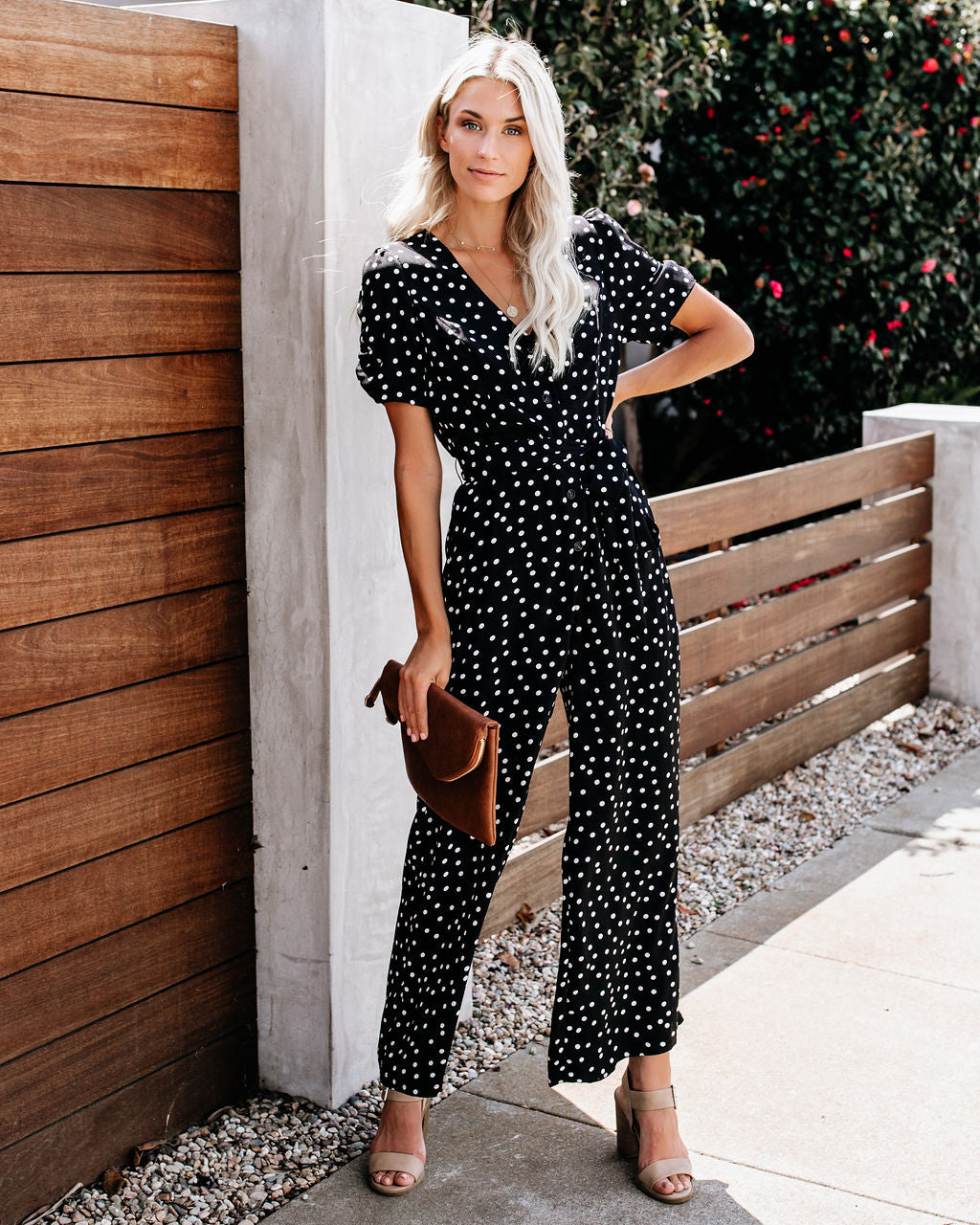 4cebfe2d5a7 Detail Product. ← Home - JUMPSUITS - String Of Pearls Polka Dot Jumpsuit
