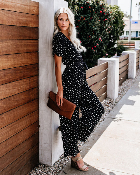 String Of Pearls Polka Dot Jumpsuit