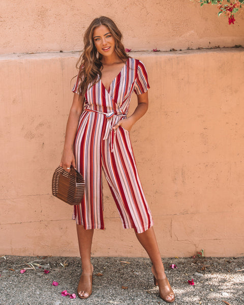 07b5dc84f64 Just Peachy Striped Pocketed Jumpsuit - FINAL SALE