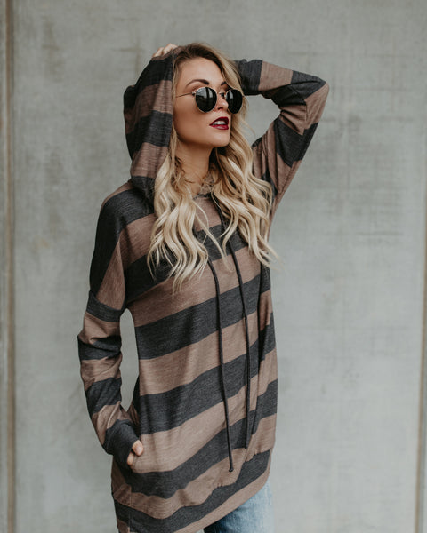 Branson Striped Pocketed Pullover