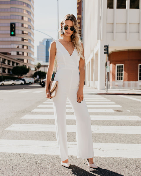 Style Is Forever Jumpsuit - Off White - FINAL SALE