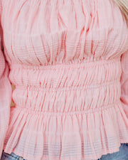 Summer Stage Cotton Smocked Top - Ballet Pink