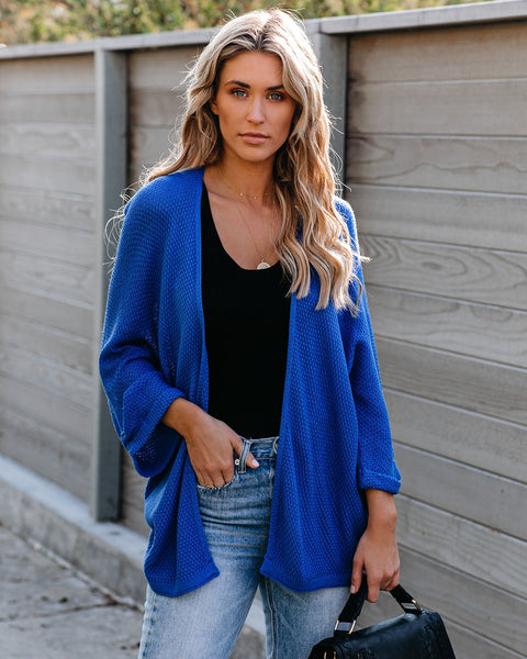 Sun City Dolman Knit Cardigan - Royal Blue