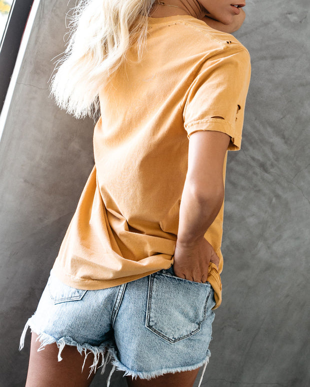 Sunny California Distressed Cotton Tee