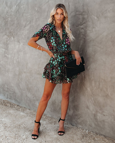 Sun Or Shade Floral Smocked Ruffle Dress
