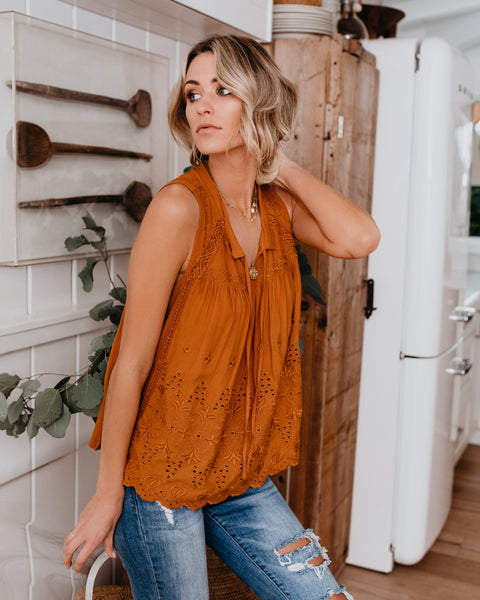 Sunshine Soul Embroidered Top