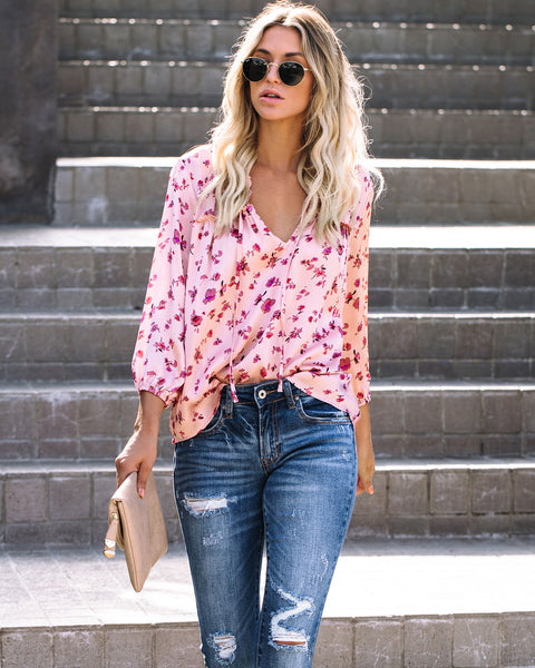 Sunshine To Flowers Ruffle Blouse