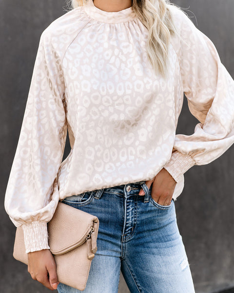Superlative Embossed Leopard Blouse