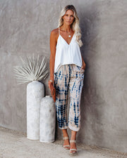 Surfrider Pocketed Frayed Satin Joggers