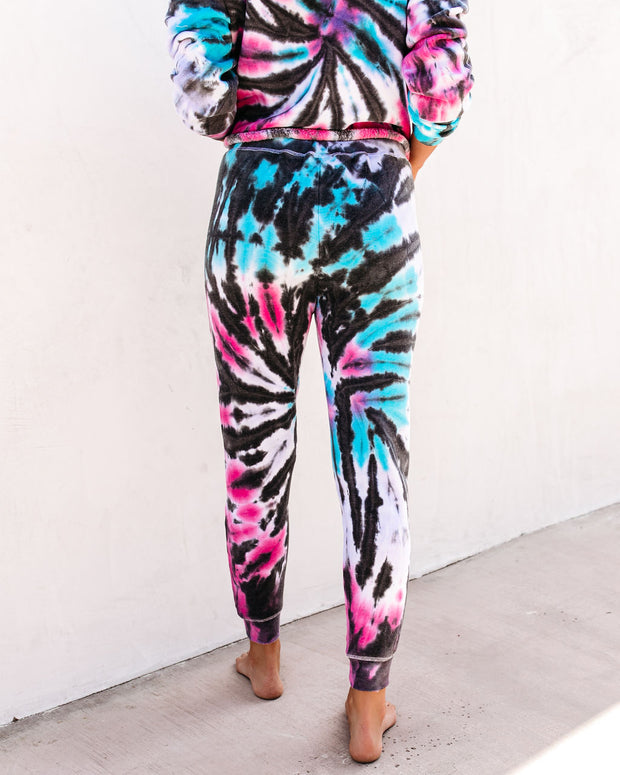 Surreal Cotton Blend Pocketed Tie Dye Joggers