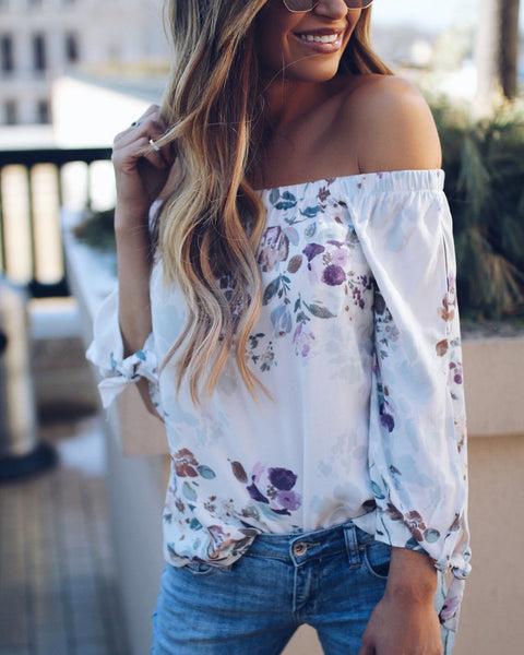Sweet Alyssum Floral Top