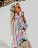 Sweet Enough Striped Button Down Top
