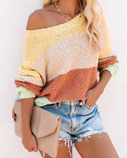 Sweet Spring Cotton Colorblock Sweater - FINAL SALE