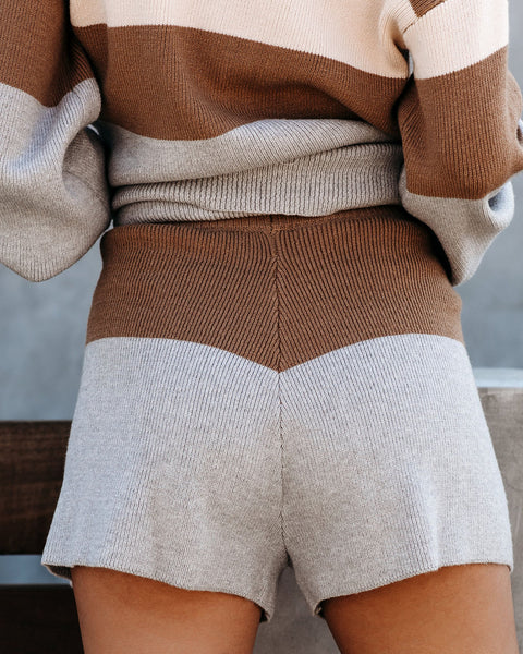 Swoon Colorblock Knit Shorts - FINAL SALE