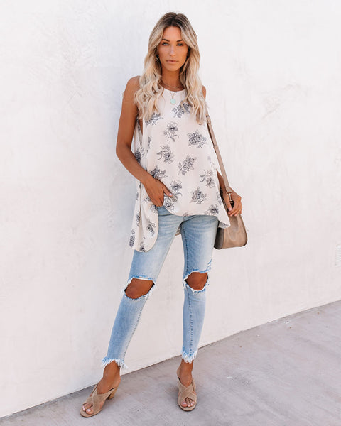 Sync Up Floral High Low Tank