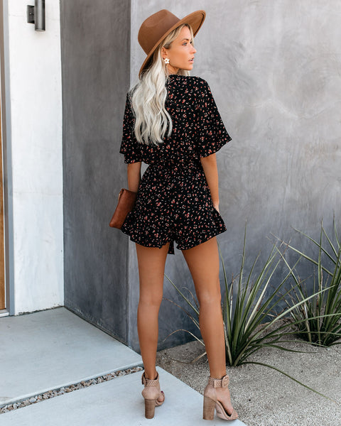 Table Top Floral Tie Romper