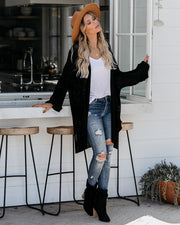 Take It Easy Knit Cardigan - Black