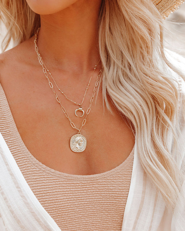 Take Me Higher Layered Coin Necklace view 3