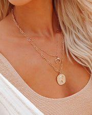 Take Me Higher Layered Coin Necklace view 1