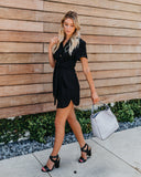 Taking Care Of Business Button Down Tie Dress