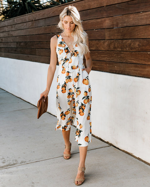 Tangerine Dreams Pocketed Jumpsuit - FINAL SALE
