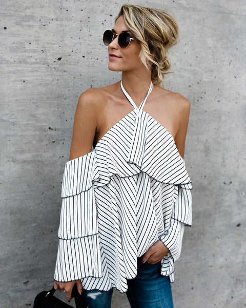 Tanner Striped Blouse - FINAL SALE