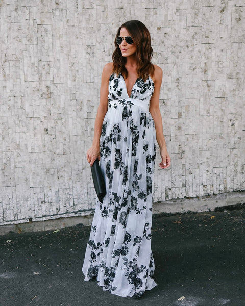 Dark Romance Maxi Dress - White