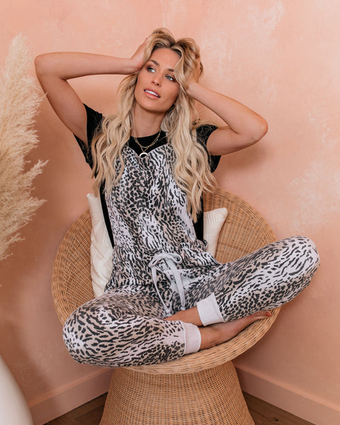 Tasmania Cotton Blend Pocketed Leopard Overalls