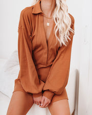 Taste Of Honey Cotton Collared Romper - FINAL SALE view 7